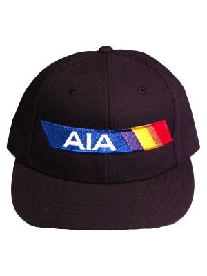 AIA Flex Fit 6-Stitch Poly-Wool Black Hat