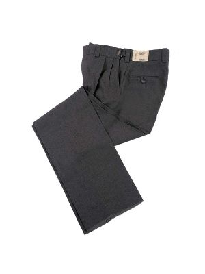 Charcoal Ultimate Pleated Plate Pant
