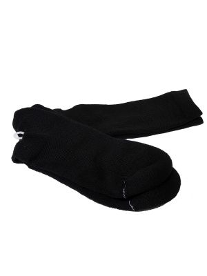 Black Acrylic Crew Sock