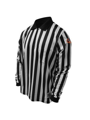 Pro Soft Striped Fb Shirt LS w/ IHSA Logo