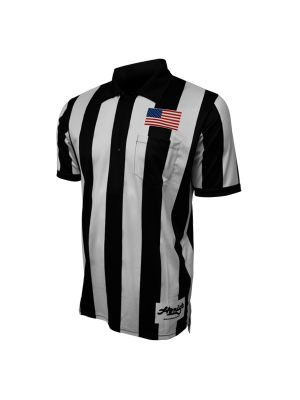 "2.25"" SS Football Shirt w/ Flag on Chest - Short and Long Sleeve"