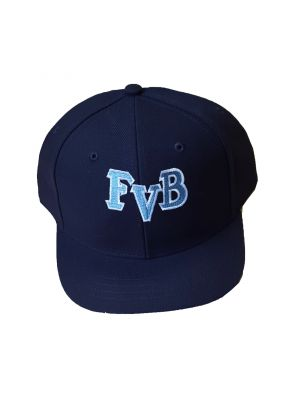 FVB Navy Softball Hat with blue and white lettering