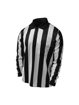 "Honig's 2"" Striped UltraTech Long Sleeve Football Shirt Without Flag and  Placket"
