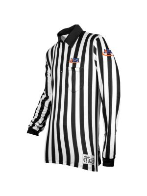"IHSA - Illinois - 1"" Stripe Ultra Tech LS Football Shirt - Sublimated"