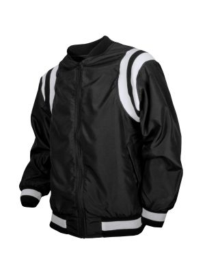 Honig's Zip Jacket - Blk w/White Dual Shoulder Stripes