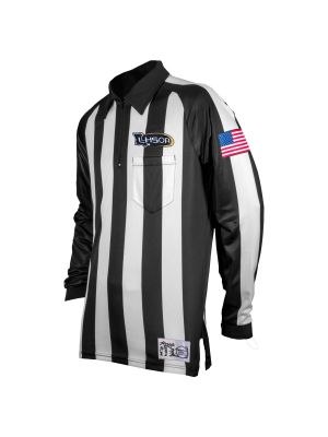 "Sublimated LHSOA 2.25"" LS Ultra Tech Football Shirt With Flag"