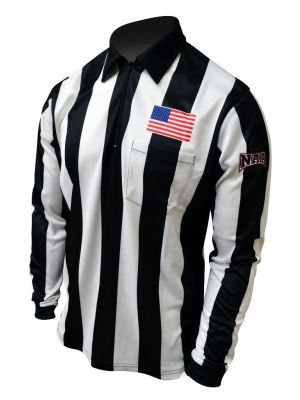"2"" Stripe LS Bi-Flex Shirt w/ NAIA Logo on Left Sleeve"