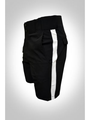Honig's Black With White Stripe Lightweight Football Shorts