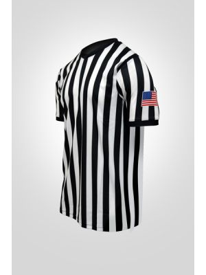 "Sublimated 1"" Stripe Side Panel Basketball Shirt W/Flag"