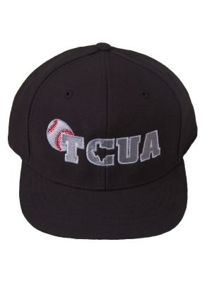Texas Collegiate Umpire Assn 4 Stitch Black Hat