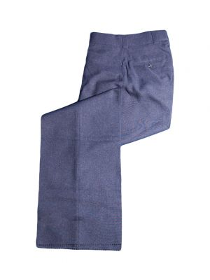 Low Rise Women's Plate Slacks - Grey